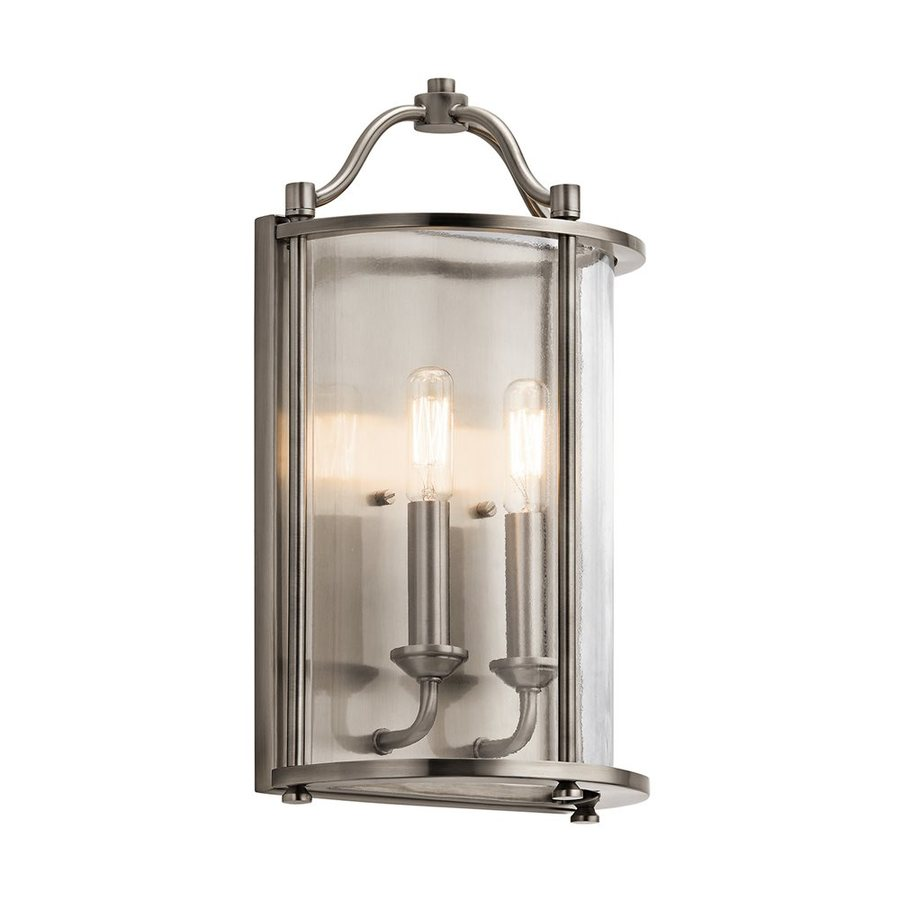 Kichler Lighting Emory 8.5-in W 2-Light Classic Pewter Candle Wall Sconce