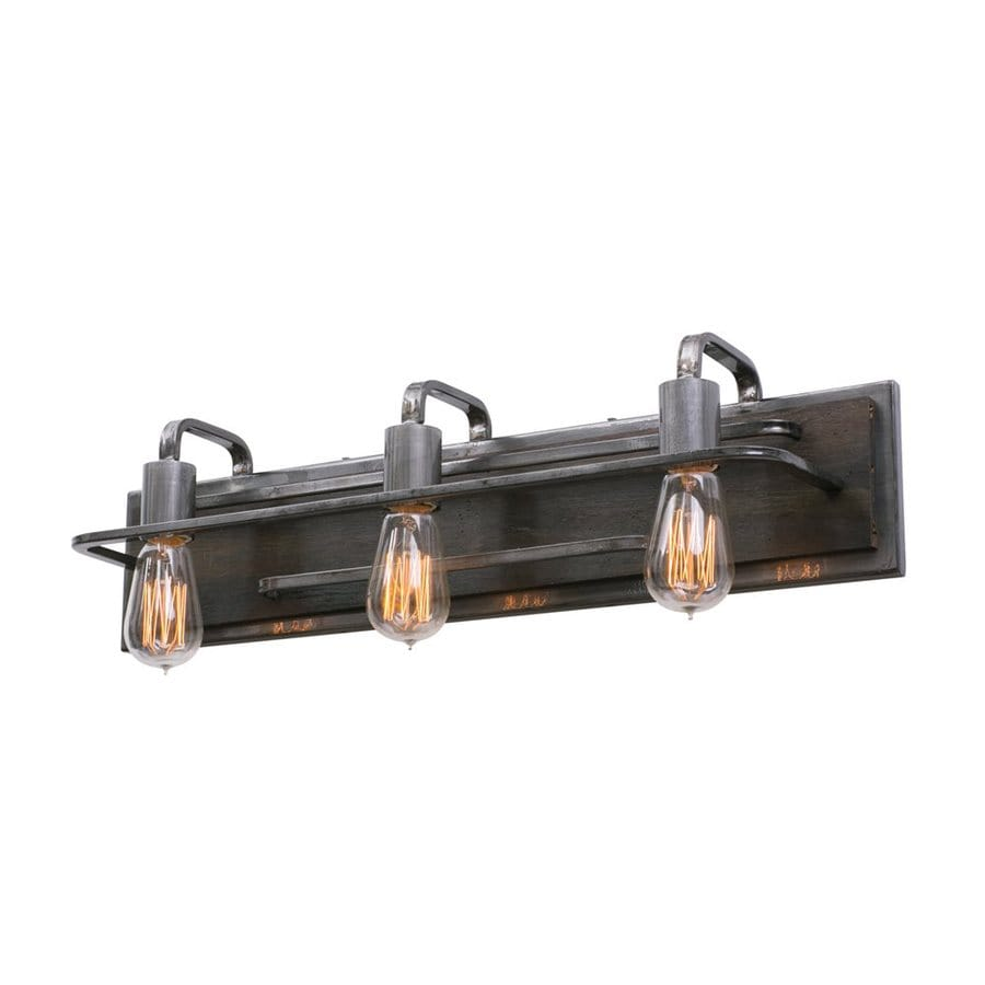 Vanity Light Bar With Cord : Shop Varaluz Lofty 3-Light 6-in Steel Warehouse Vanity Light Bar at Lowes.com