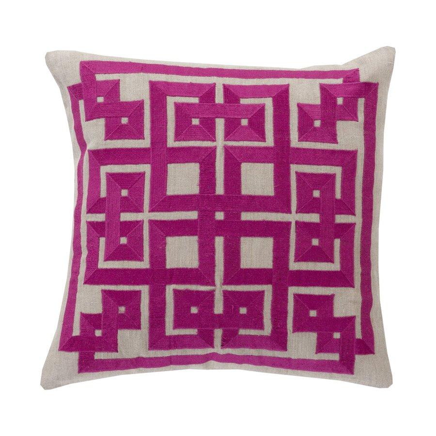 Surya 20-in W x 20-in L Bright Purple Indoor Decorative Pillow