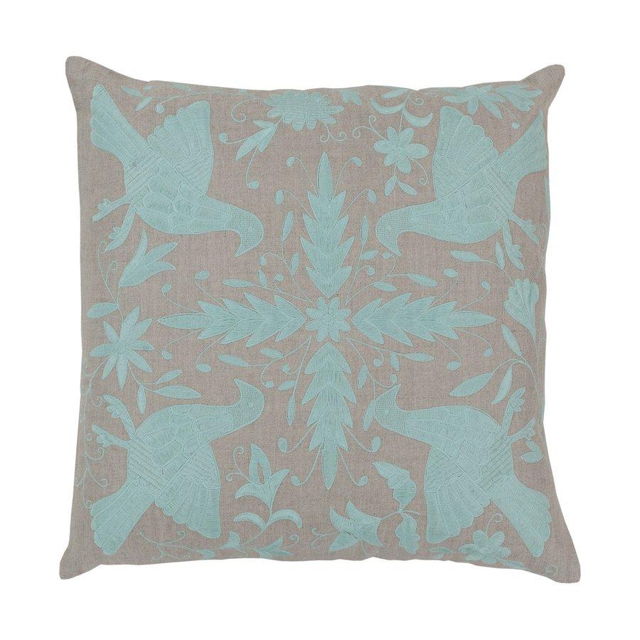 Surya 22-in W x 22-in L Aqua Indoor Decorative Pillow