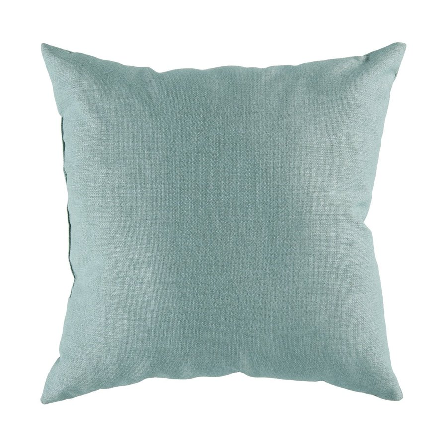 Surya 18-in W x 18-in L Cool Teal Square Indoor Decorative Pillow