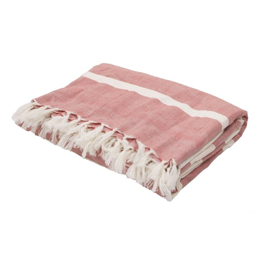 Jaipur Essential Red 60-in L x 50-in W Blend Throw