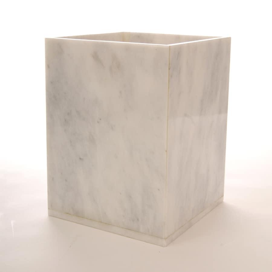 Shop imperial bath oyster white marble wastebasket at for Bathroom wastebasket