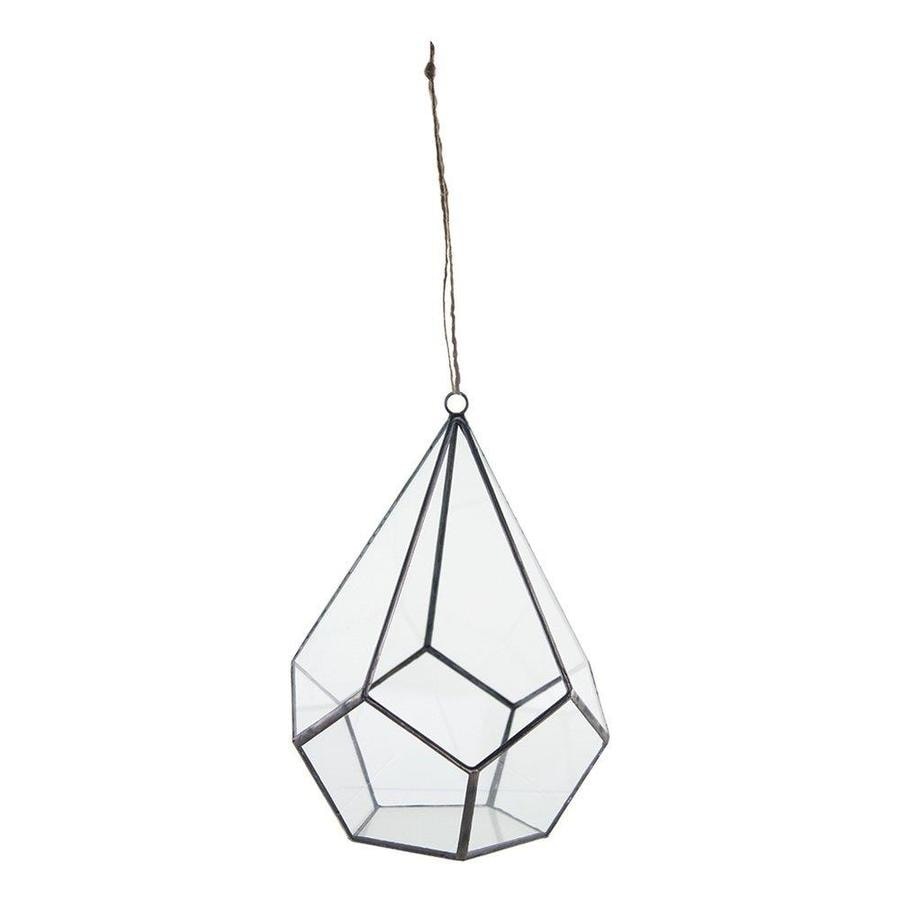 Syndicate Sales 6.38-in x 8.38-in Clear Glass Hanging Terrarium