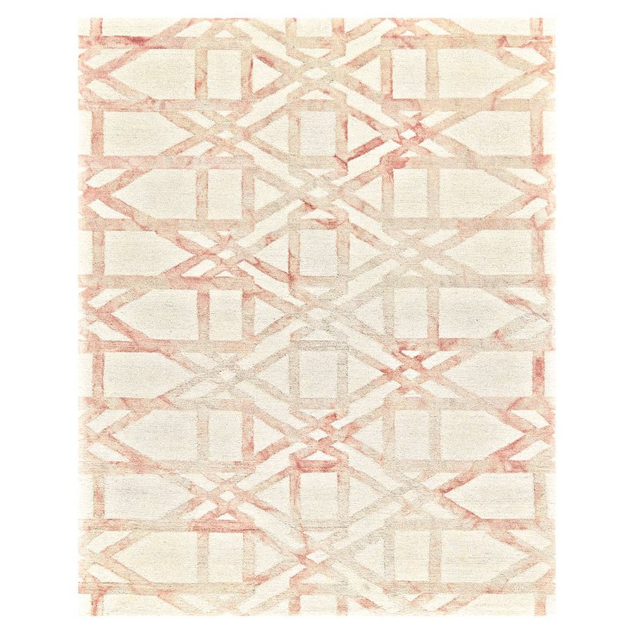 FEIZY RUGS Iazza Blush Rectangular Indoor Hand-Hooked Area Rug (Common: 9 x 13; Actual: 9.5-ft W x 13.5-ft L)