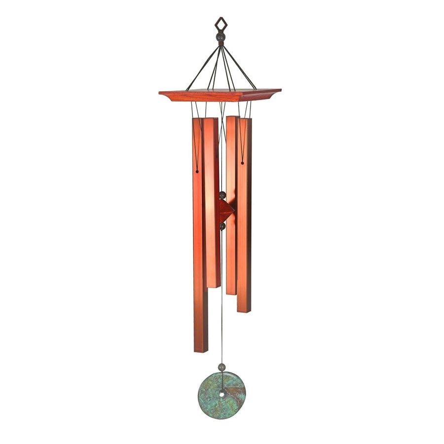 Woodstock Chimes 26-in Cherry Metal Oriental Wind Chime