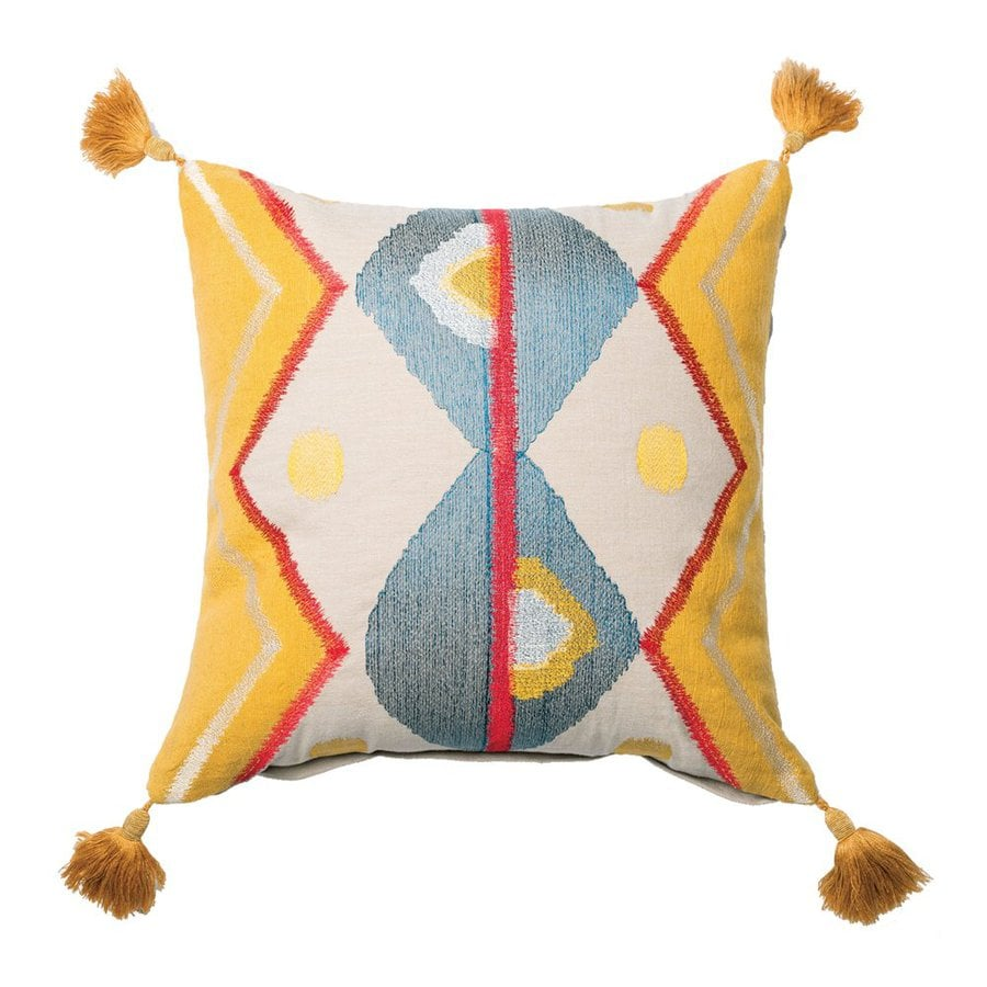Furniture of America 18-in W x 18-in L Yellow Indoor Decorative Pillow