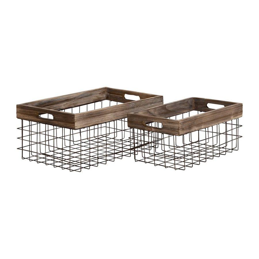 Woodland Imports 2-Pack Classy Styled Iron Basket