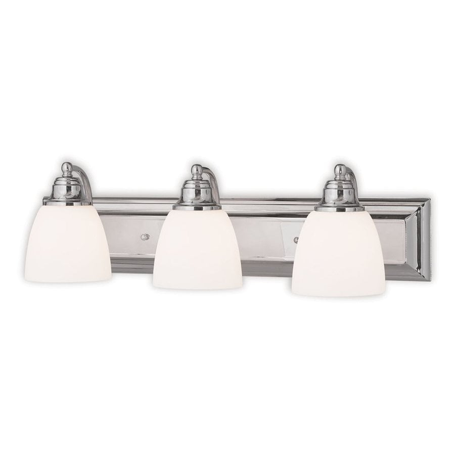 Livex Lighting Springfield 3-Light 7-in Chrome Bell Vanity Light