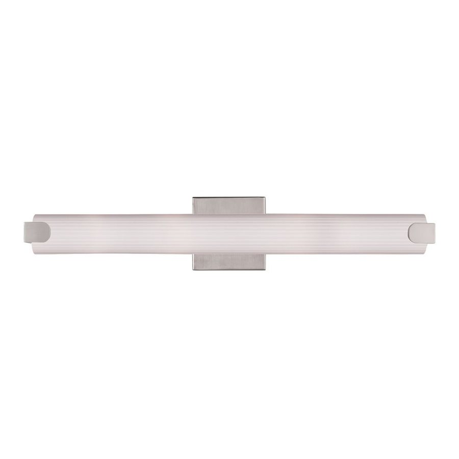 Livex Lighting Avelar 1-Light Brushed Nickel Cylinder LED Vanity Light Bar