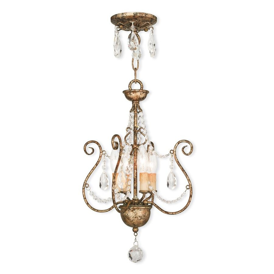 Euro Chandelier Lighting: Livex Lighting Isabella 4-Light European Bronze