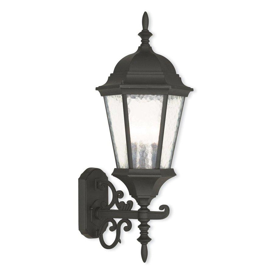 Livex Lighting Hamilton 23.5-in H Textured Black Outdoor Wall Light