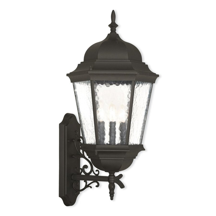 Livex Lighting Hamilton 30-in H Textured Black Outdoor Wall Light