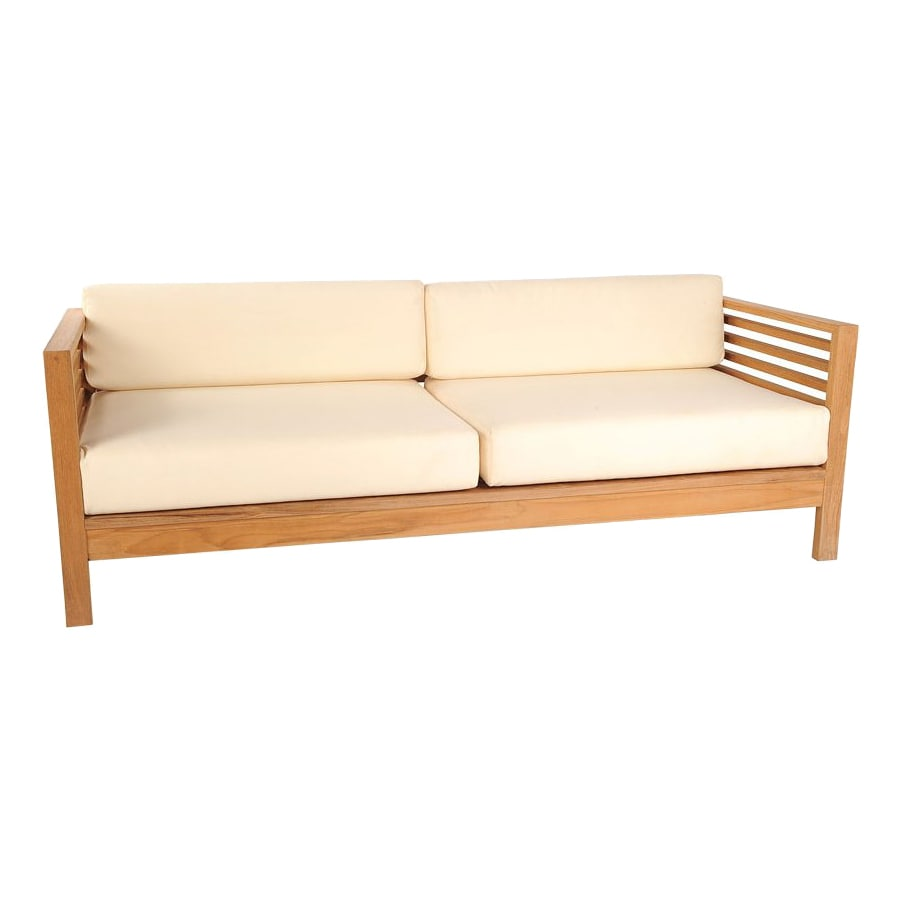 HiTeak Furniture Summer Solid Cushion Natural Blond Teak Sofa