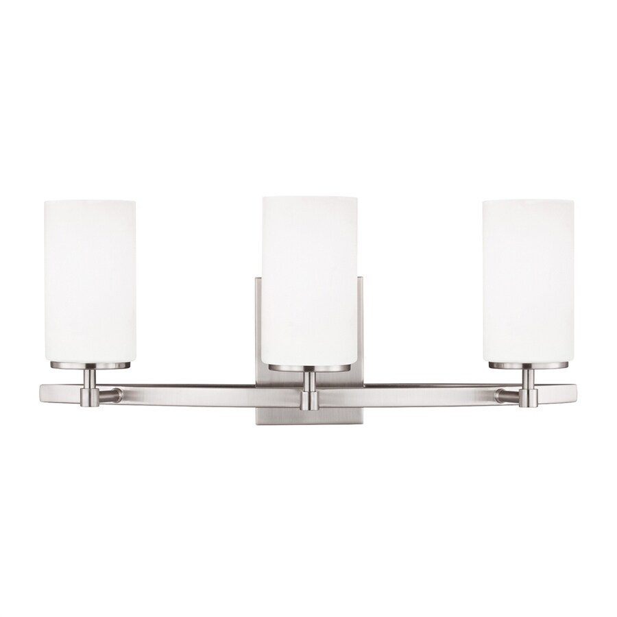 Sea Gull Lighting Alturas 3-Light Brushed Nickel Cylinder Vanity Light