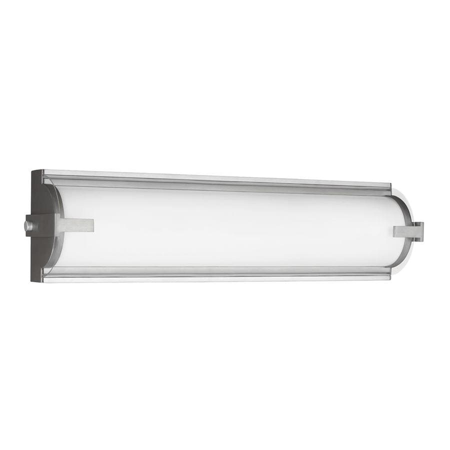 Shop Sea Gull Lighting Braunfels 1-Light 5-in Satin Aluminum Cylinder LED Vanity Light Bar at ...