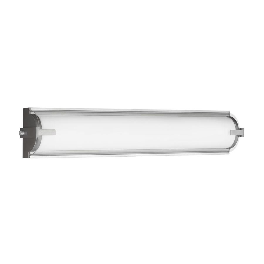 Sea Gull Lighting Braunfels 1-Light 5-in Satin Aluminum Cylinder LED Vanity Light Bar
