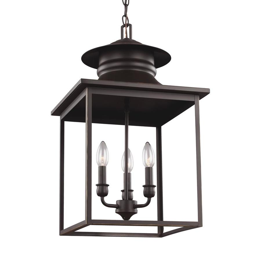 Sea Gull Lighting Huntsville 14-in Heirloom Bronze Barn Single Lantern Pendant