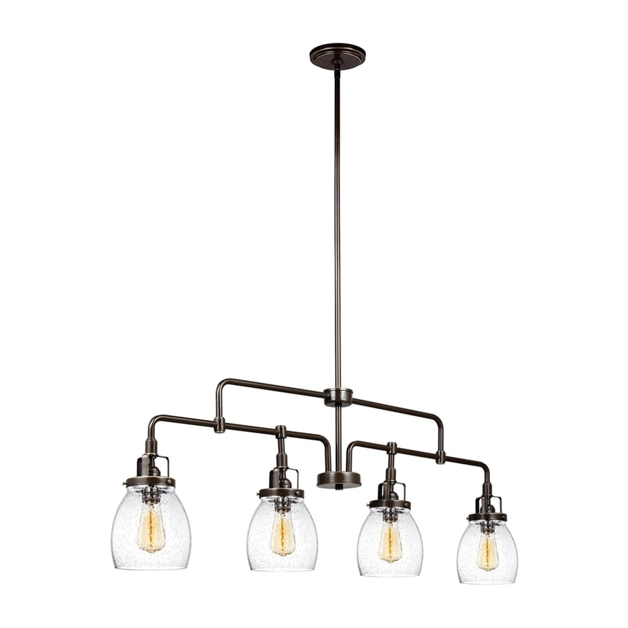 Shop kitchen island lighting at lowes sea gull lighting belton 4075 in w 4 light heirloom bronze vintage kitchen island aloadofball Choice Image