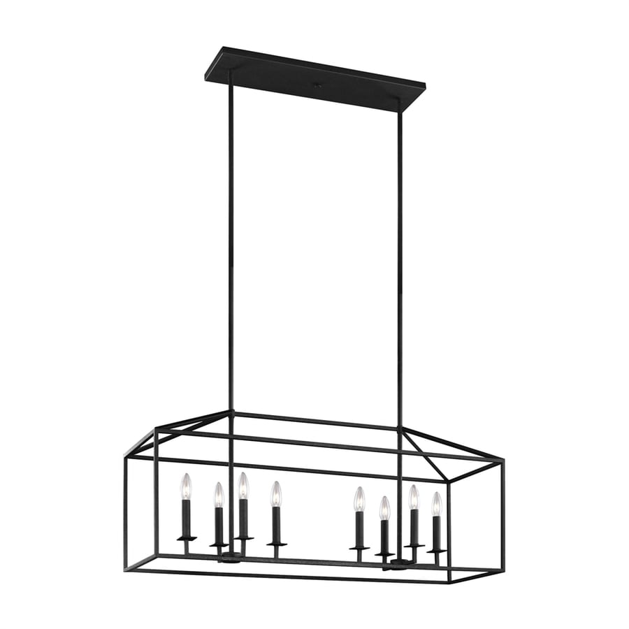 Kitchen Island Lighting Lantern: Shop Sea Gull Lighting Perryton 40-in W 8-Light Blacksmith