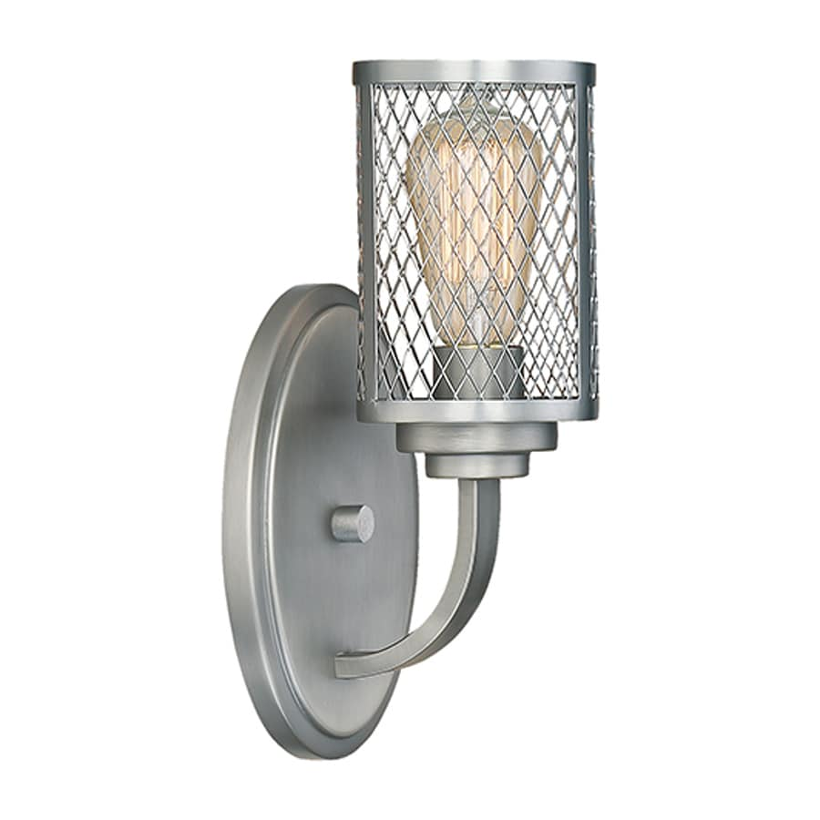 Millennium Lighting Akron 1-Light 13-in Brushed Pewter Cage Vanity Light