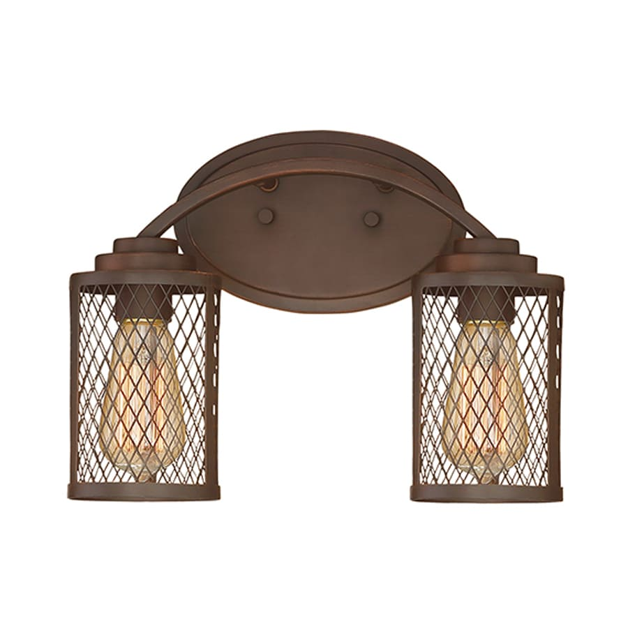 Millennium Lighting Akron 2-Light 9-in Rubbed Bronze Cage Vanity Light
