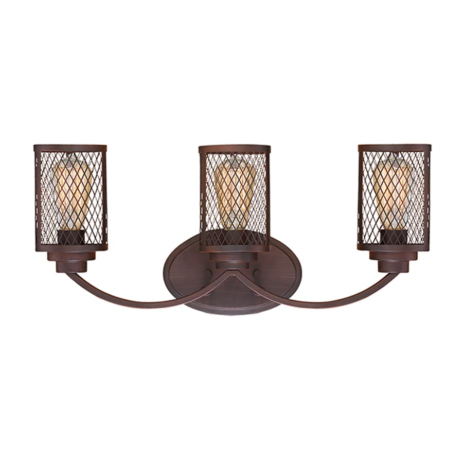 Millennium Lighting Akron 3-Light 9-in Rubbed Bronze Cage Vanity Light