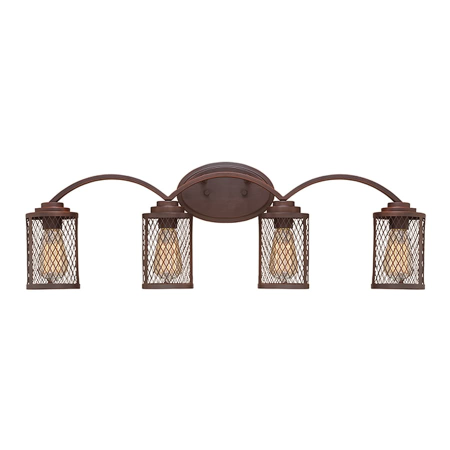 Millennium Lighting Akron 4-Light 9-in Rubbed Bronze Cage Vanity Light