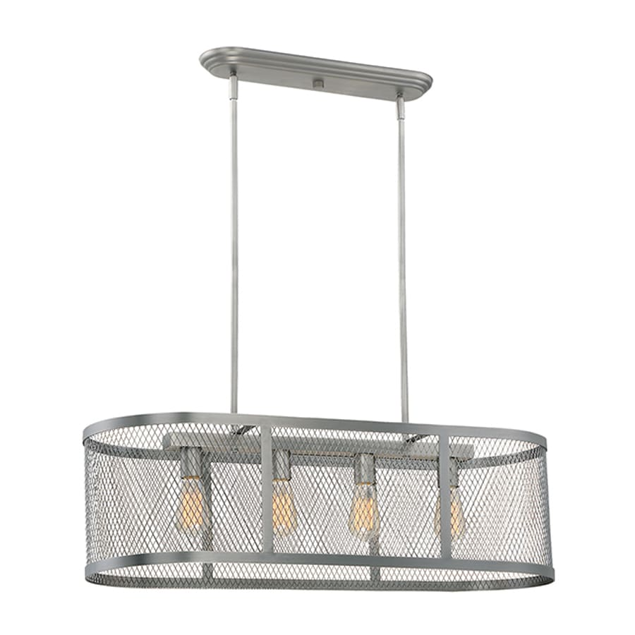 Millennium Lighting Akron 36-in W 4-Light Brushed Pewter Kitchen Island Light