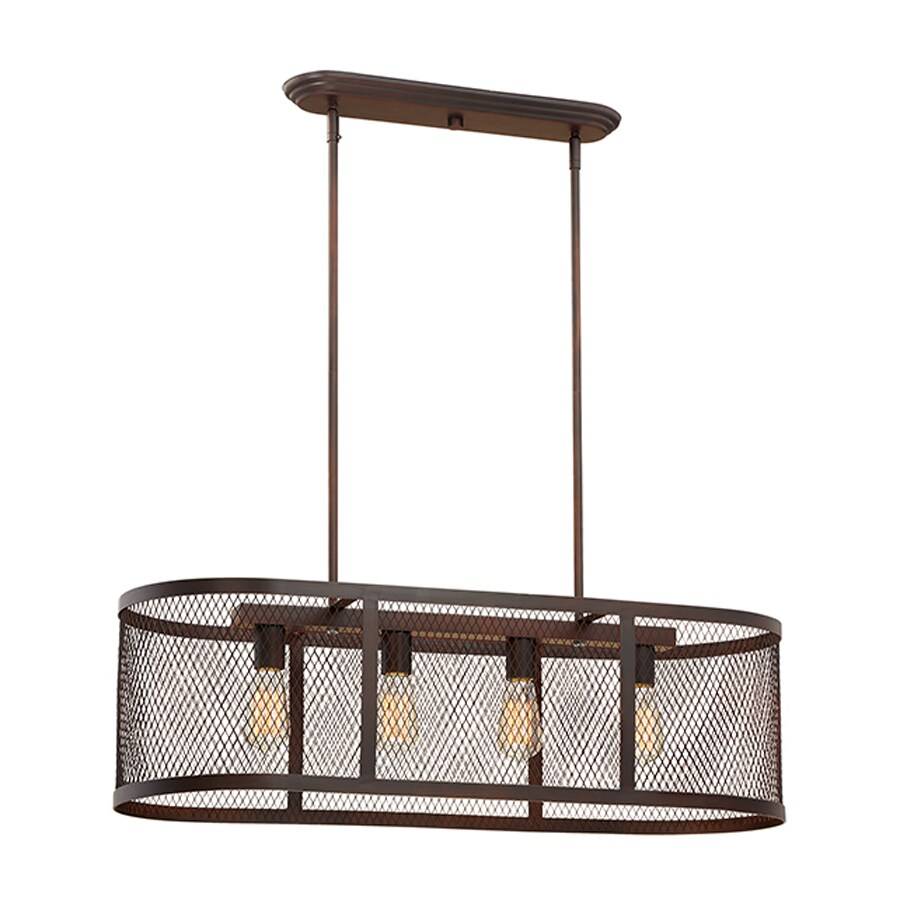 Millennium Lighting Akron 36-in W 4-Light Rubbed Bronze