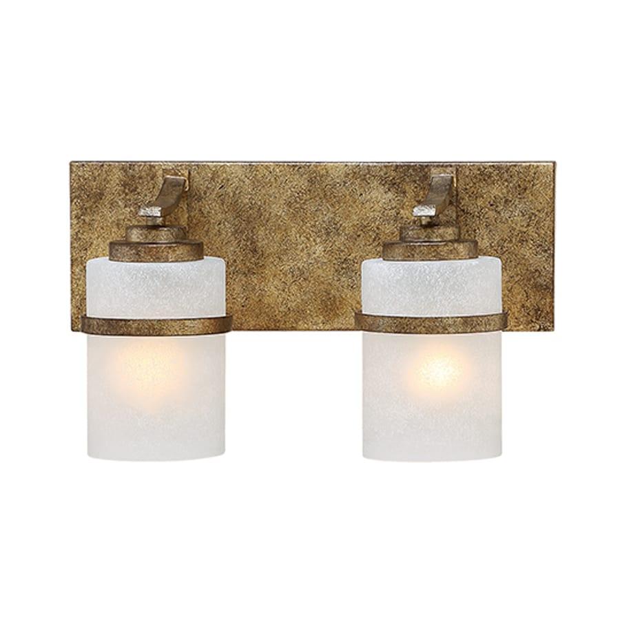 Millennium Lighting Benton 2-Light 10-in Vintage Gold Cylinder Vanity Light