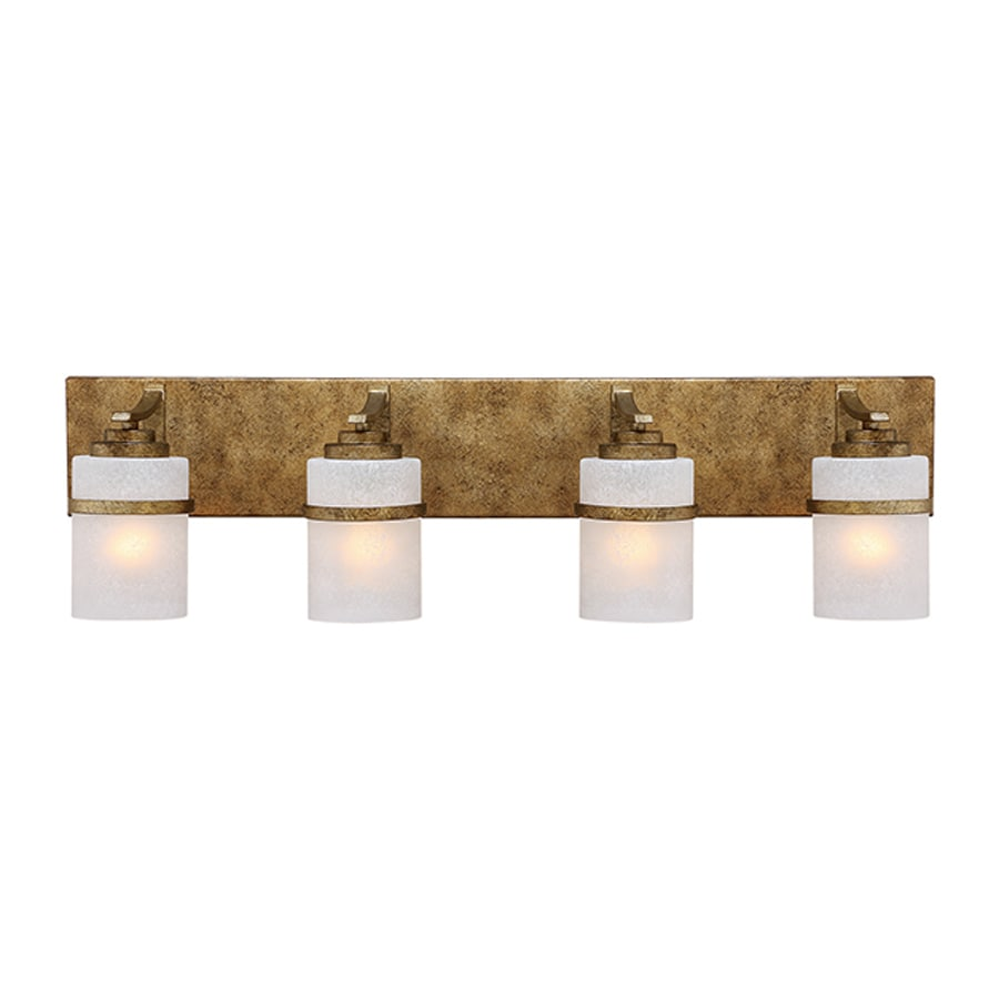 Millennium Lighting Benton 4-Light 10-in Vintage Gold Cylinder Vanity Light