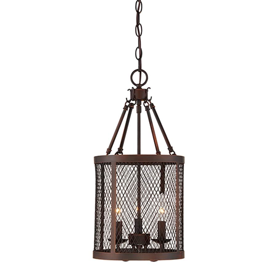 Millennium Lighting Akron 10-in Rubbed Bronze Industrial Single Cylinder Pendant