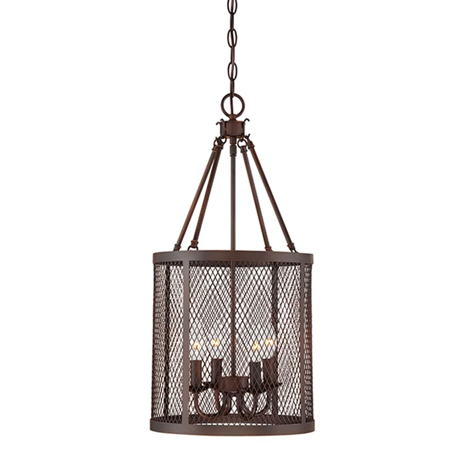 Millennium Lighting Akron 12-in Rubbed Bronze Industrial Single Cylinder Pendant