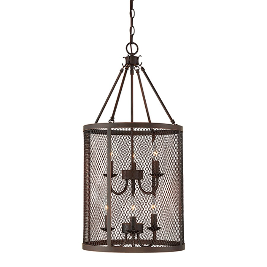 Millennium Lighting Akron 15-in Rubbed Bronze Industrial Single Drum Pendant