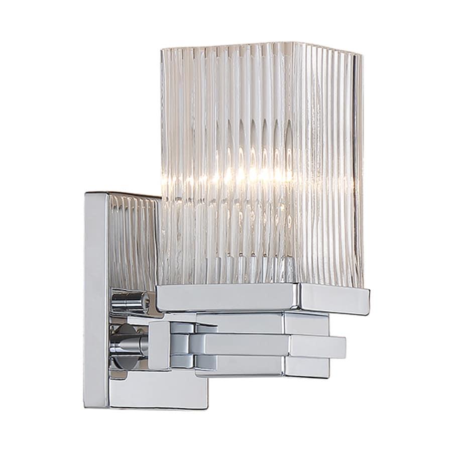 Millennium Lighting 1-Light 7.5-in Chrome Rectangle Vanity Light