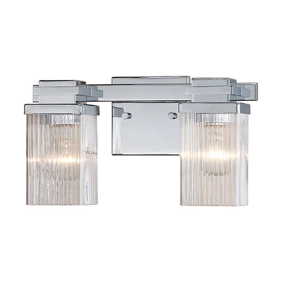 Millennium Lighting 2-Light 7-in Chrome Rectangle Vanity Light