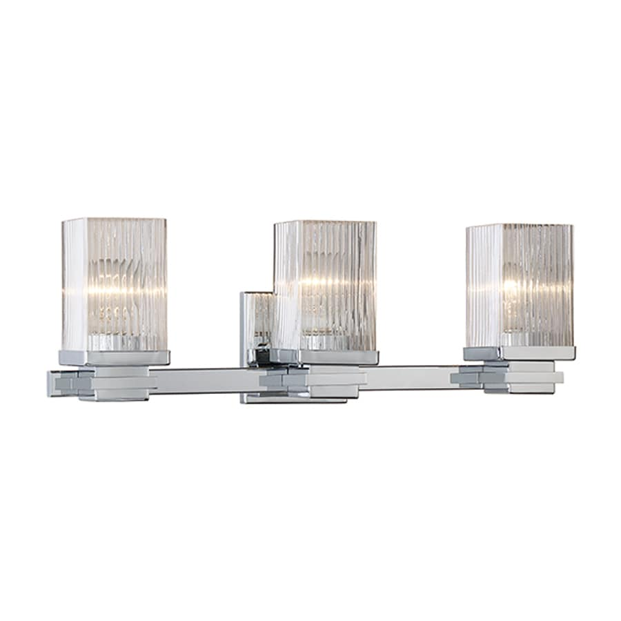 Millennium Lighting 3-Light 7-in Chrome Rectangle Vanity Light