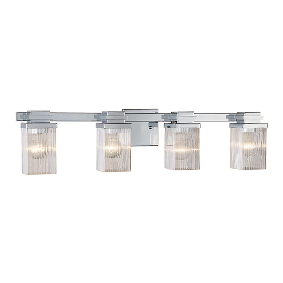 Shop millennium lighting 4 light chrome bathroom vanity - Chrome bathroom lighting fixtures ...