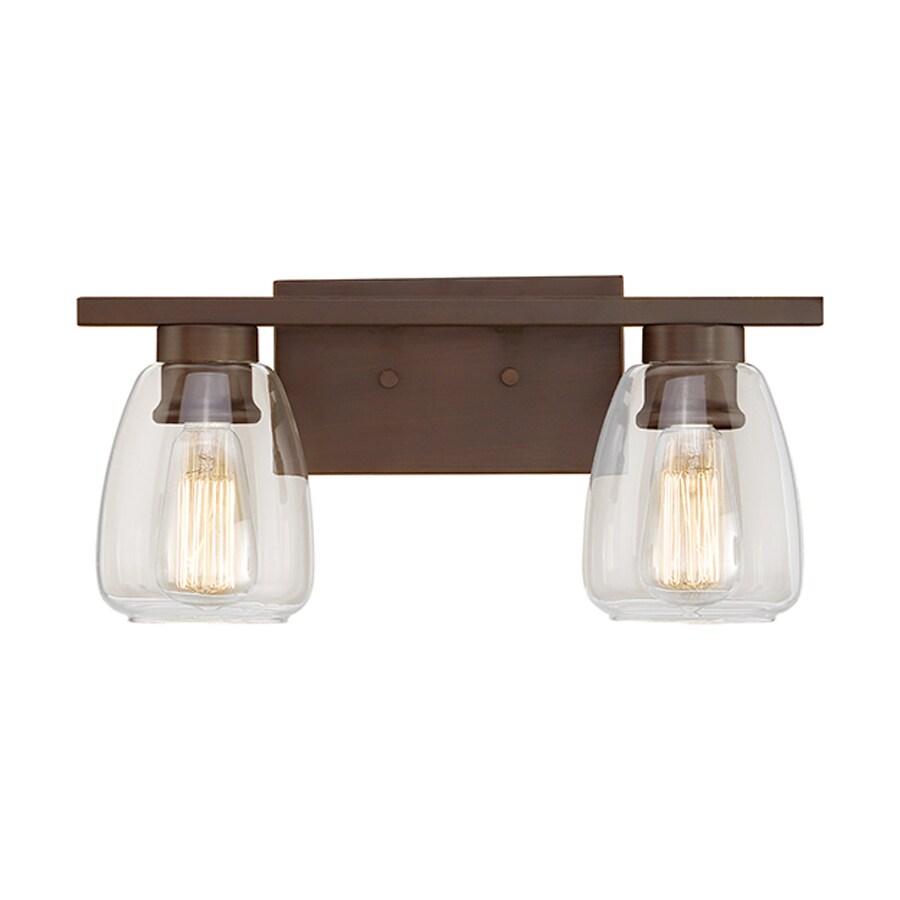 Millennium Lighting 2-Light 9.5-in Rubbed Bronze Teardrop Vanity Light
