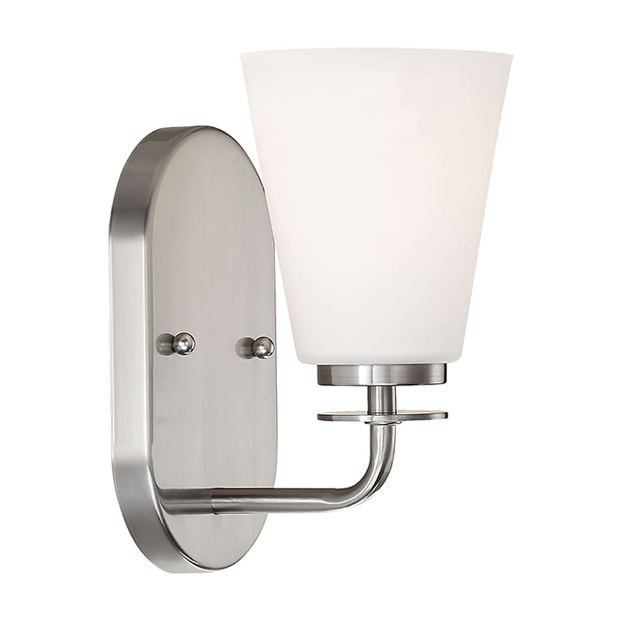 Millennium Lighting 1-Light 9-in Satin Nickel Cone Vanity Light