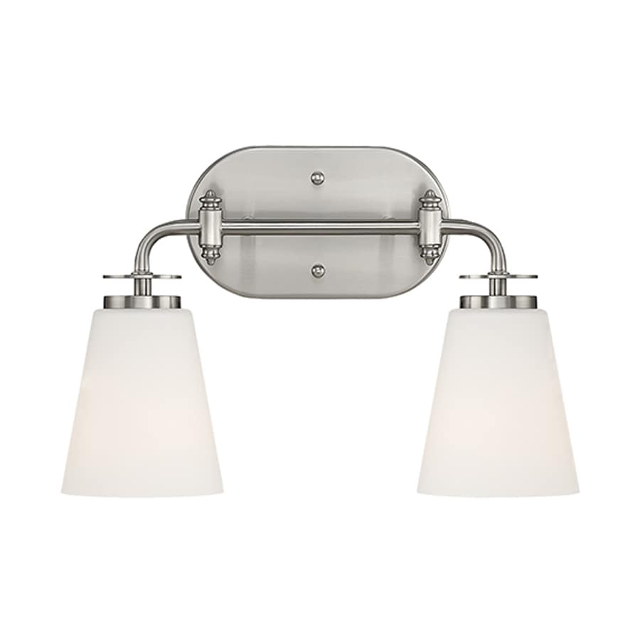 Millennium Lighting 2-Light 10-in Satin Nickel Cone Vanity Light