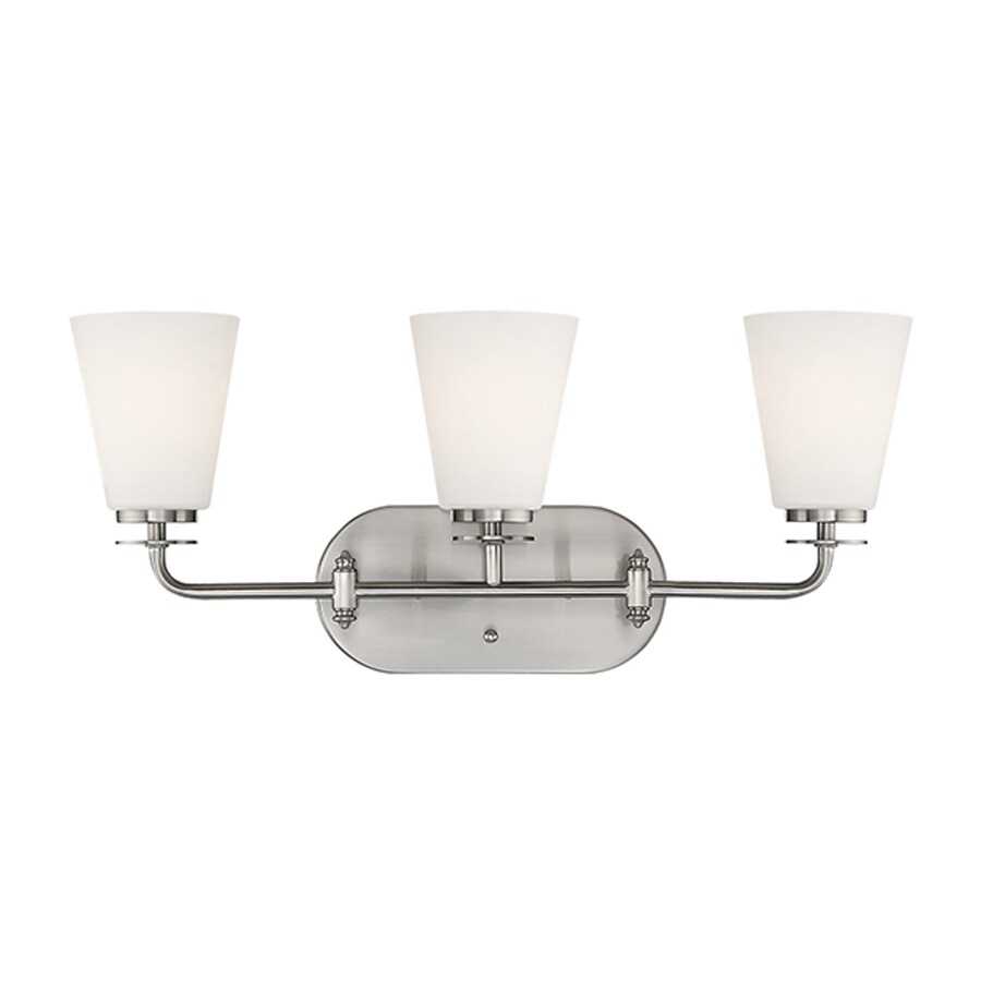 Millennium Lighting 3-Light 10-in Satin Nickel Cone Vanity Light