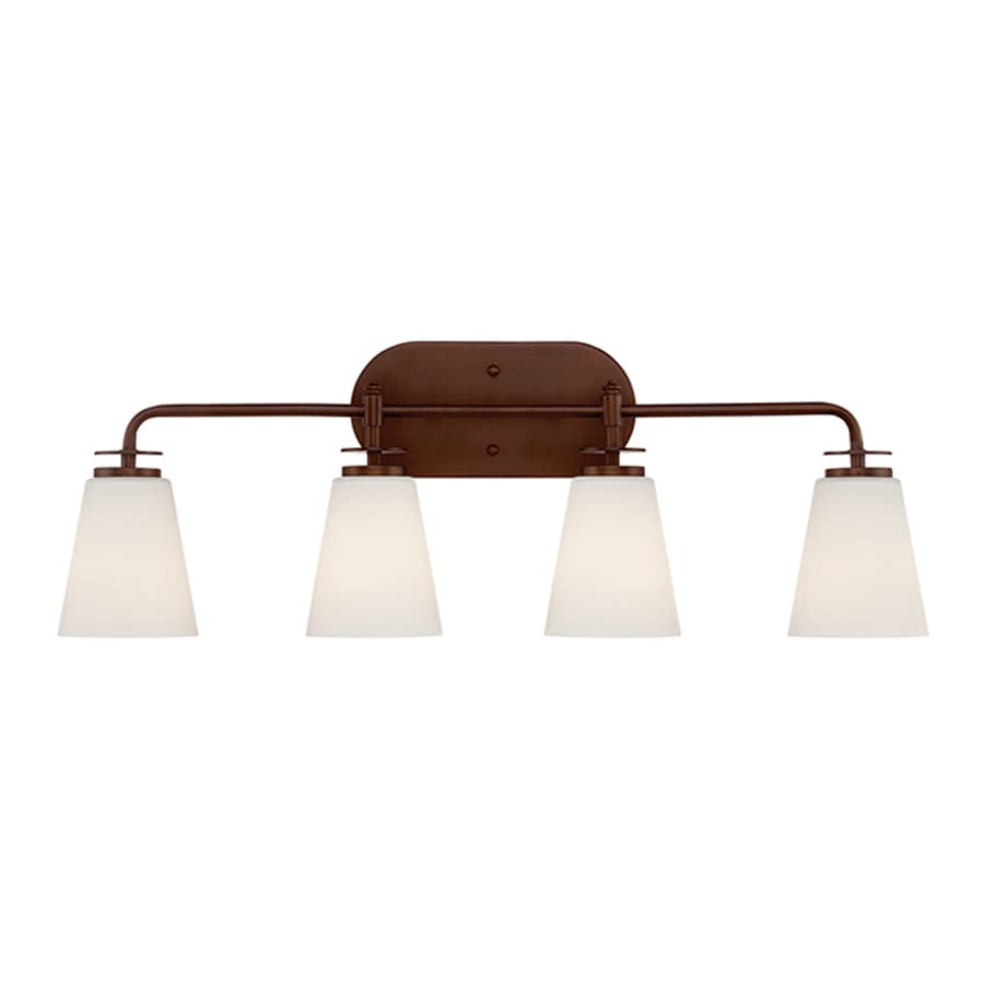 Millennium Lighting 4-Light 10-in Rubbed Bronze Cone Vanity Light