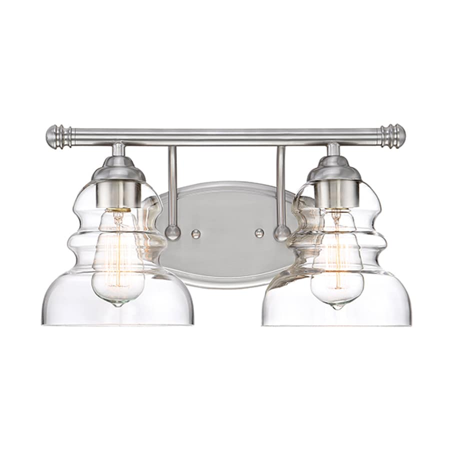 Millennium Lighting 2-Light 8-in Satin Nickel Vanity Light