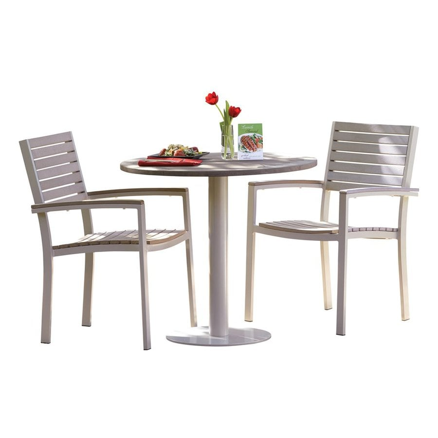 Oxford Garden Travira 3-Piece Tekwood Bistro Patio Dining Set