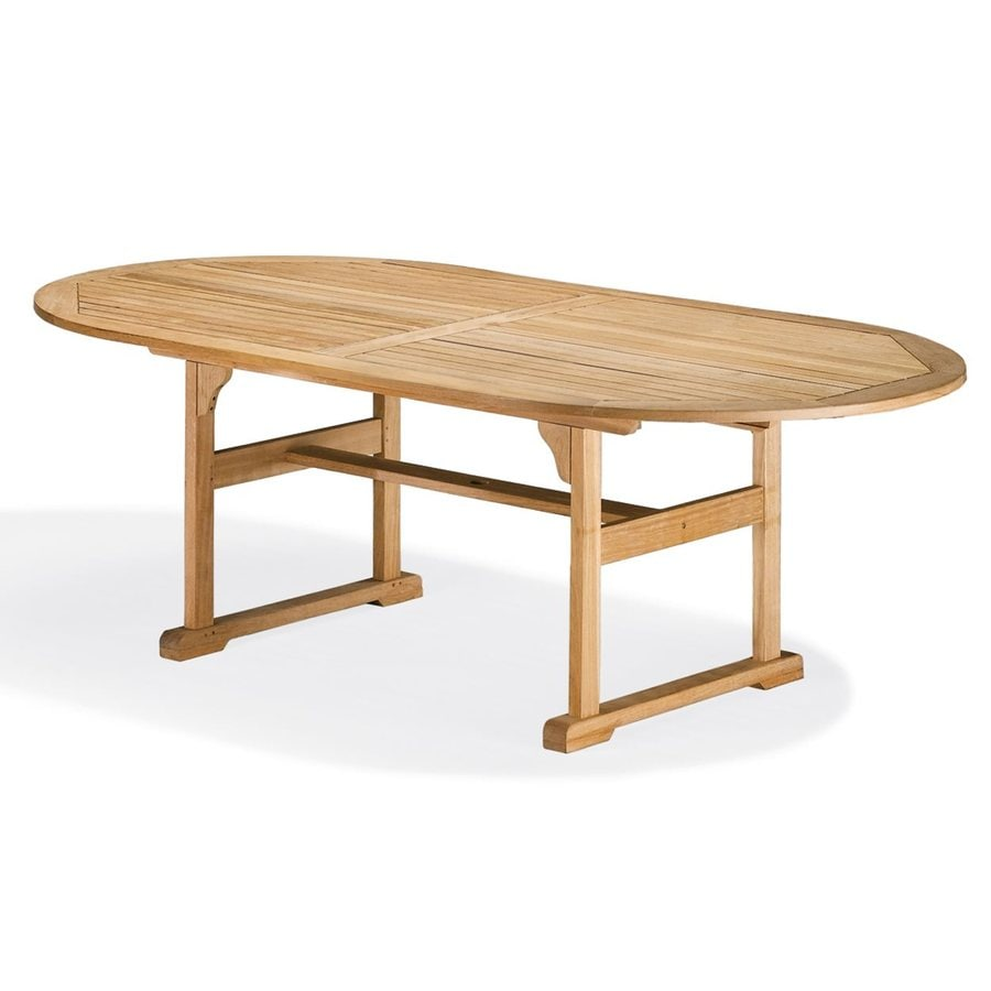 Oxford Garden 48-in W x 88-in L Oval Shorea Dining Table