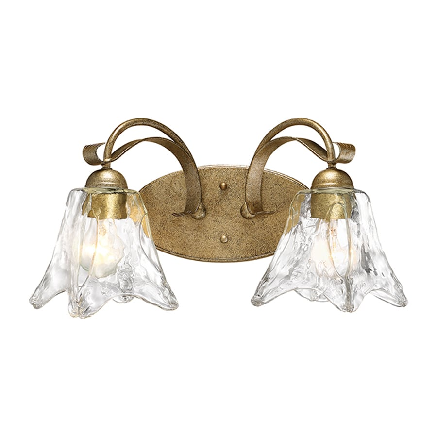Millennium Lighting Chatsworth 2-Light 10-in Vintage Gold Bell Vanity Light