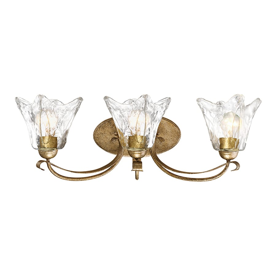 Millennium Lighting Chatsworth 3-Light 10-in Vintage Gold Bell Vanity Light