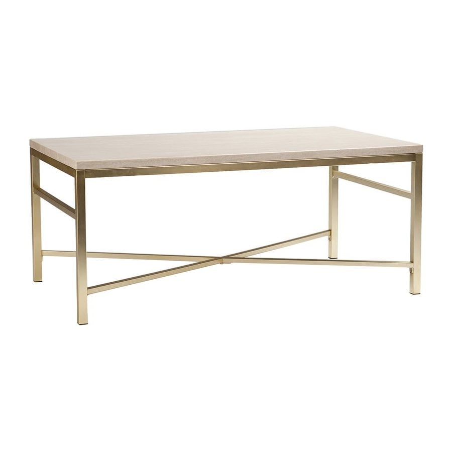 Shop Boston Loft Furnishings Anastasia Cream Rectangular Coffee Table At